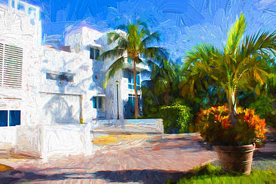 Photograph - White House - Miami Beach Series 02 by Carlos Diaz
