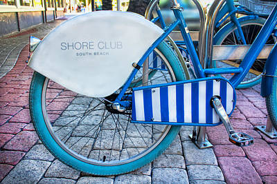 Photograph - South Beach Bicycle - Miami Beach Series 04 by Carlos Diaz