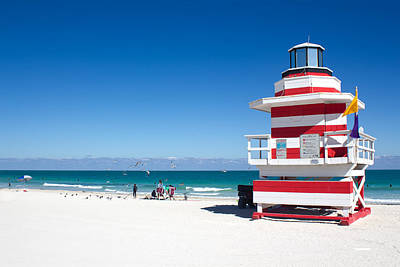 Photograph - Lifeguard Miami Beach Series 12 by Carlos Diaz