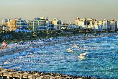 Photograph - Miami Beach Sunset by Olga Hamilton