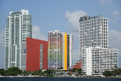 Photograph - Miami Brickell Avenue Waterfront  by Bradford Martin