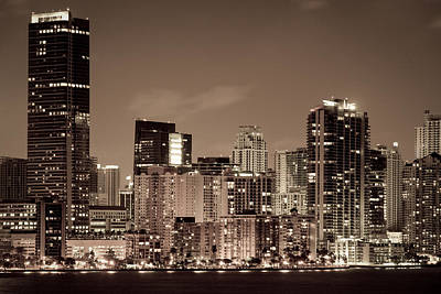 Photograph - Miami Cityscape by Celso Diniz