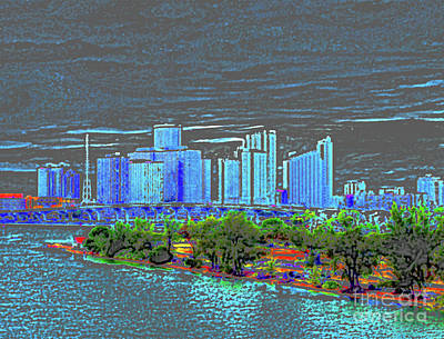 Digital Art - Miami Color by Molly McPherson