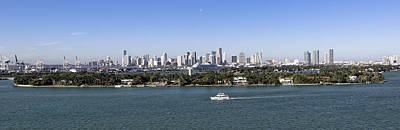 Art Print featuring the photograph Miami Daytime Panorama by Gary Dean Mercer Clark