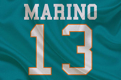 Miami Dolphins Dan Marino Art Print by Joe Hamilton