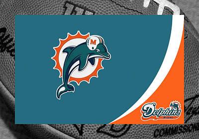 Miami Dolphins Art Print by Joe Hamilton