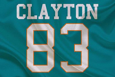 Clayton Photograph - Miami Dolphins Mark Clayton by Joe Hamilton