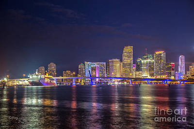 Miami Downtown Architecture Art Print by Rene Triay Photography