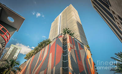 Color Block Photograph - Miami Downtown Buildings - Miami - Florida by Ian Monk