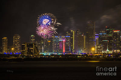 Photograph - Miami Downtown City View by Rene Triay Photography