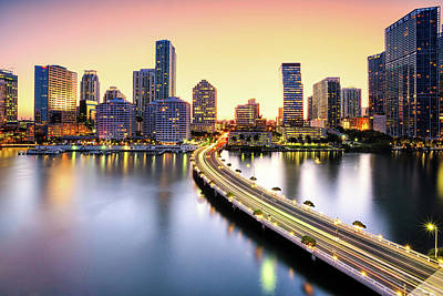 Reflection Photograph - Miami by Eddie Lluisma