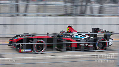Photograph - Miami Eprix Street Racing by Rene Triay Photography