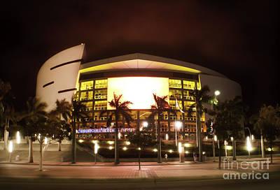 Miami Heat Aa Arena Art Print by Andres LaBrada