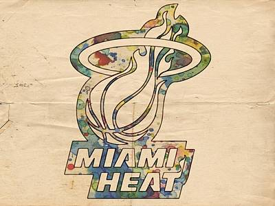Painting - Miami Heat Champions Poster by Florian Rodarte