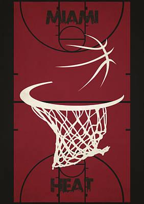 Miami Heat Court Art Print by Joe Hamilton