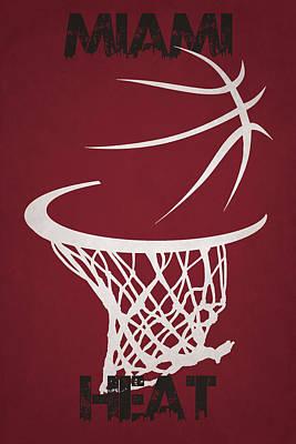 Miami Heat Hoop Print by Joe Hamilton