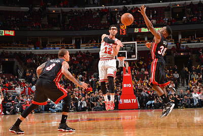 Photograph - Miami Heat V Chicago Bulls by Jesse D. Garrabrant