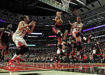 Photograph - Miami Heat V Chicago Bulls by Jonathan Daniel