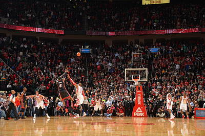 Photograph - Miami Heat V Houston Rockets by Jesse D. Garrabrant