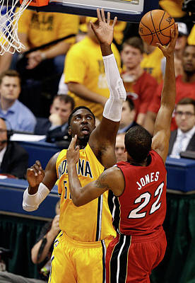 Photograph - Miami Heat V Indiana Pacers - Game 1 by Joe Robbins