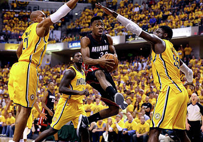 Photograph - Miami Heat V Indiana Pacers - Game 2 by Andy Lyons