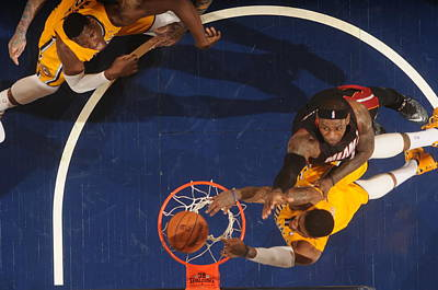 Photograph - Miami Heat V Indiana Pacers by Ron Hoskins