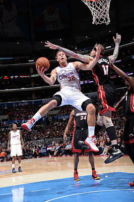 Photograph - Miami Heat V Los Angeles Clippers by Andrew D. Bernstein