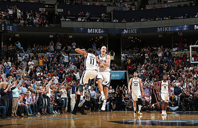 Photograph - Miami Heat V Memphis Grizzlies by Joe Murphy