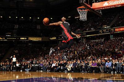 Photograph - Miami Heat V Sacramento Kings by Ezra Shaw
