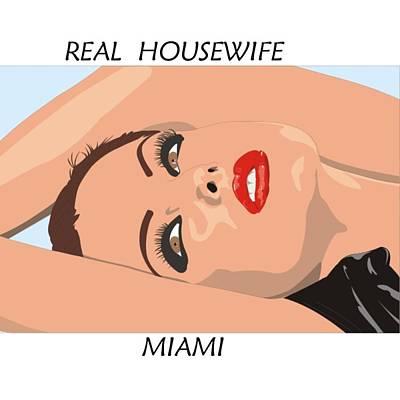 Digital Art - Miami Housewife by Florene Welebny