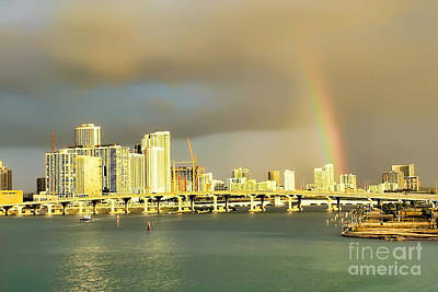 Photograph - Miami In Gold by Olga Hamilton