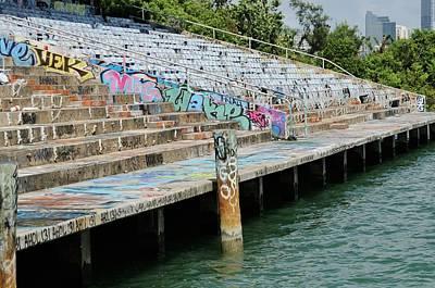 Miami Marine Stadium-graffiti Art Print by Bradford Martin