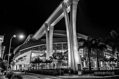 Miami Marlins Park Stadium Art Print