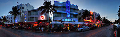 Signs Photograph - Miami - Ocean Drive Pano 001 by Lance Vaughn