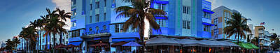 Sign Photograph - Miami - Ocean Drive Pano 003 by Lance Vaughn