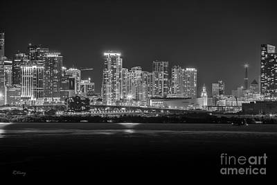 Miami On A Clear Summer Night Art Print