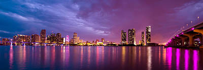 Miami Skyline Photograph - Miami On The Bay by Luke Thomas