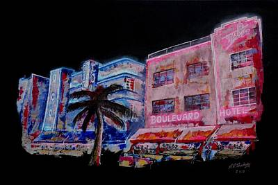 Warhol Painting - Miami Outside In by Andrew Roy Thackeray