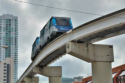 Photograph - Miami People Mover by Steven Richman