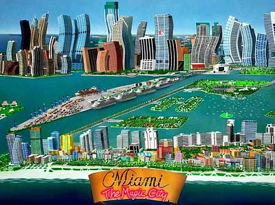 Bayside Painting - Miami Sizzle by Brett Sauce
