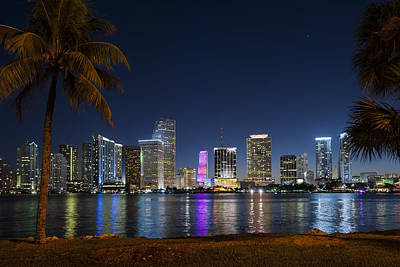 Miami Skyline Photograph - Miami Skyline by Domenik Studer