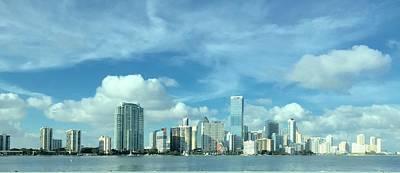 Miami Skyline Painting - Miami Skyline by Mary Buckley