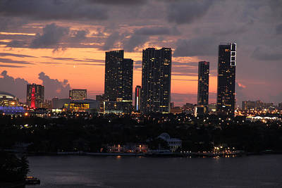 Photograph - Miami Skyline by S C