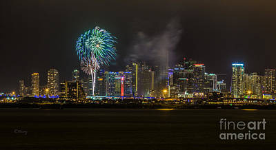 Photograph - Miami Skyline Sparkle With Style by Rene Triay Photography