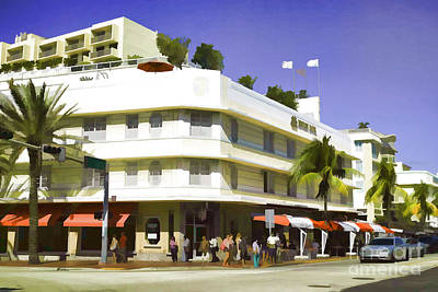 Photograph - Miami South Beach - Collins Avenue by Les Palenik
