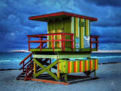 Photograph - Miami - South Beach Lifeguard Stand 006 by Lance Vaughn
