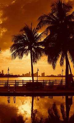Miami South Beach Romance II Art Print