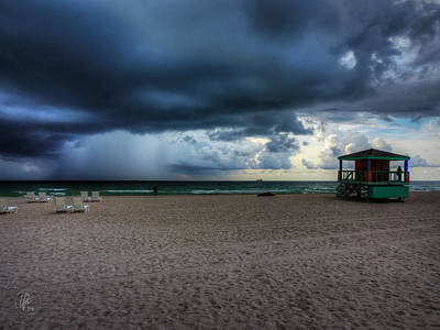 Photograph - Miami - South Beach Storm 002 by Lance Vaughn