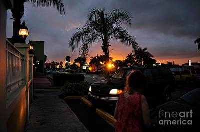Miami Strip Mall Sunset Art Print by Andres LaBrada