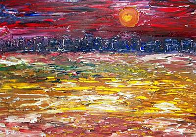 Painting - Miami Sunset by Anthony Fox